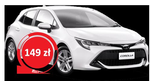 Toyota Corolla wypożyczenie